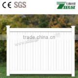 Hot Sale White Color PVC Solid Panel Fence, Private Fence, Privacy Fence
