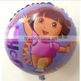 45*45cm round bule Dora Aluminum balloons birthday party decorations kids gift mylar balloons