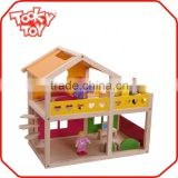 Funny Baby popular wooden mini bedroom doll house furniture