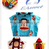 china factory terry cloth poncho hooded bath towel ,hooded towel baby                                                                                                         Supplier's Choice