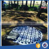 fashion design cotton printing beautiful pattern round beach towel with tassels coat print for beach towel