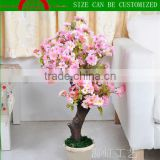 Artificial bonsai cherry blossom tree for office/fake cherry blossom tree for home/Artificial cherry flower tree