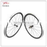 700C Carbon alloy clincher 38mmx20.5mm bicycle wheelset with Novatec A291SB F482 hub and Sapim cx-ray spokes