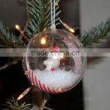 Clear Plastic Christmas Ornaments Ball 10cm Clear Christmas Baubles Transparent Open Decoration Ball