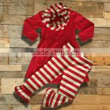 christmas pajamas for children/cheap kids christmas pajamas/100%cotton girls night dress