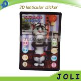 cartoon sticker 3D grating	lenticular sticker 3d