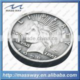 cool custom 3D antique pewter alloy commemorate coin