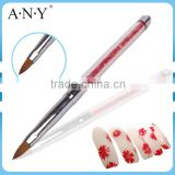 ANY Nail Art Beauty Care Glitter Handle Pure Kolinsky Hair Nail Brush Acrylic Nails