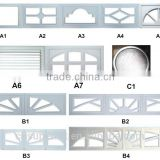 High quality windows for sectional garage door from China /garage door with windows insert