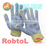 Kevlar gloves liner with PVC strip coating (itemID:KTAI) -Mary