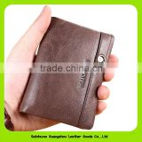Retro Soft Oil Wax Leather Men Bifold Wallet Credit Card Holder 16387