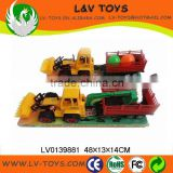 Wholesale friction cheap plastic toy trucks mini loader toys car for childern