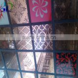 4-12 CE Accredited Figured Glass/pattern glass panels