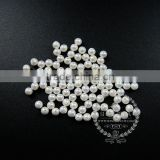 4mm half drilled white round artificial imitation mother of pearl shell pearl beads for earrings studs DIY supplies 3020070