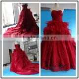 Sweetheart Neckline Ball Gown Custom Made Floor Length Formal Bridal Dress Vestidos De Novia BW076 red wine wedding dresses