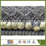 hot dip galvanized chain Link Fence system with a double swing gate for sale