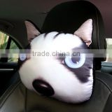 new Personalized unfilled husky dog pillow animal cartoon cushion car seat headrest cover (BJH001)