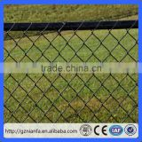 Guangzhou factory supply green black chain link vinyl privacy fence panels for backyard
