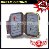 Plastic fishing tackle waterproof fly box