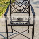 cast aluminum bar stool outdoor bar stool with high leg metal chair