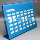 High quality new Design Acrylic Photo Frame Calendar, ukhozi fm calendar