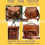 Indian handmade vintage goat leather bag