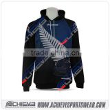 100% polyester sublimation sportswear single Custom Hoodies