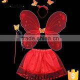 New Products 2016 Red Angel Wings Sets Children Fairy Wings Halloween Holidays Decorations