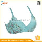 HSZ-58071 Top Brand Women Sexy Bra Underwear Printing Design For Ladies Extreme Push Up Bras