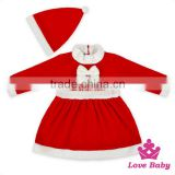 Newest Christmas Pajamas For Children Baby Girls Boutique Winter Kids Christmas Outfits Girl Clothing With Match Caps