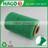 Good quality green open end recycled cotton blended knitting socks yarn