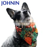 Multifunctional triangle pet safety custom printed logo dog collar bandana