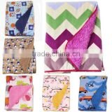wholesale mixed color knitting flannel fleece baby blanket