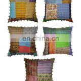 Patchwork Kantha Cushion Cover Home Decorative Kantha Pillow Cover