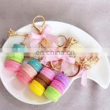 Fashion Resin Macarons Cake Keychain Effiel Tower Keychain Bag Charm Accessories Best Gifts