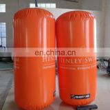 High quality Airtight inflatable floating water pillar, cylinder inflatable water buoy water games