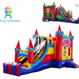 4 in 1 royal Bouncy castle with slide, castle inflatable combo, Inflatable jumping castle for sale