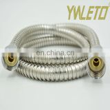 Hot sale extensible flexible polished chrome brass connector stainless steel handheld shower head hose
