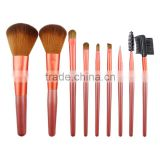 Popular Cosmetics And Makeup Factory 9 Pcs Wood Handle Cosmetics And Makeup Factory 9 Pcs Wood Handle Private Label Makeup Brus