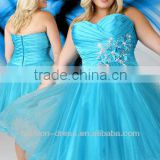 2013 Sexy Sweetheart Beaded Applique Plue Size Turquoise Ball Gown Prom Dress