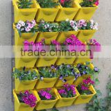 Vertical Wall Garden Planter, Recycled Materials Wall Mount Balcony Plant Grow Bag for Yards, Apartments, Balconies, Patios, Sch