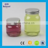 High quality 500ml 250ml empty food grade glass storage jar clear glass honey bottle                                                                                                         Supplier's Choice
