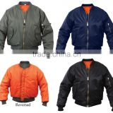 Custom Military Air Force Bomber Jacket / Outer shell Made From 100% Nylon Material With Sleeves Pocket