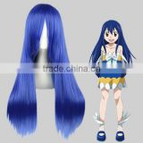 High Quality 70cm Long Straight FAIRY TAIL-Wendy Marvell Blue Synthetic Anime Wig Cosplay Hair Wig Party Wig                                                                         Quality Choice