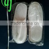 white disposable PP non woven slipper top closed with EVA sole /white home slipper