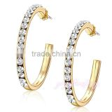 Wholesale jewelry bulk crytal large gold hoop earrings