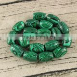 MB1215 Synthetic Malachite Stone Chunky Cylinder Barrel Spacer Beads, Semi Precious Gemstone Drum Beads