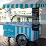 Outdoor mobile ice cream cart for sale customize italian ice cream cart stainless steel ice cream cart