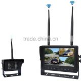 100% Manufacturer CE RoHS DC12 to 32V Digital Wireless 4 Channel 7 Inch DVR Monitor Rear View System with 4 Cameras