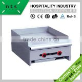 fast food hotel restaurant 2 burners stainless steel gas griddle